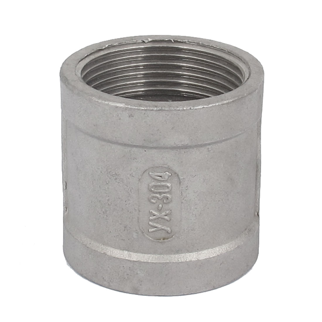 Female Thread Straight Rod Coupling Connector Pipe Fittings 1 1/4 BSP Gray