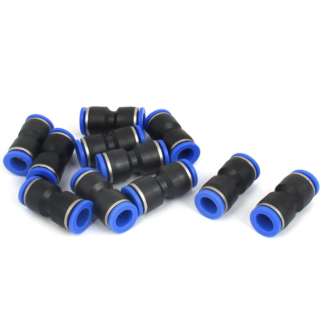 12mm to 12mm Pneumatic Connection Straight Push in Fitting 11 Pcs