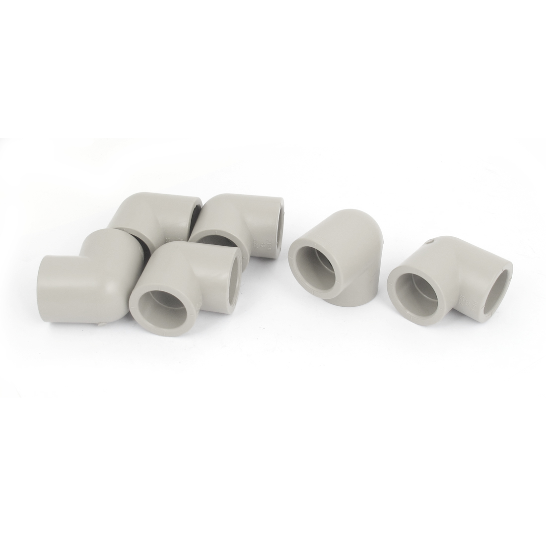90 Degree Elbow PPR Pipe Connectors Gray 32mm Inner Diameter 6 Pcs