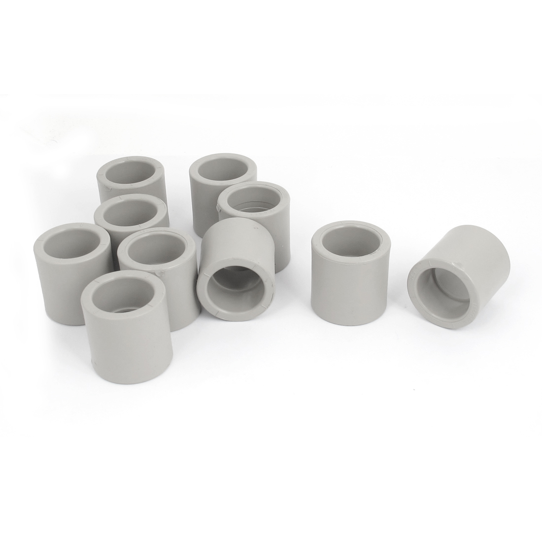 Straight PPR Pipe Connectors Fittings Gray 32mm Inner Diameter 10 Pcs