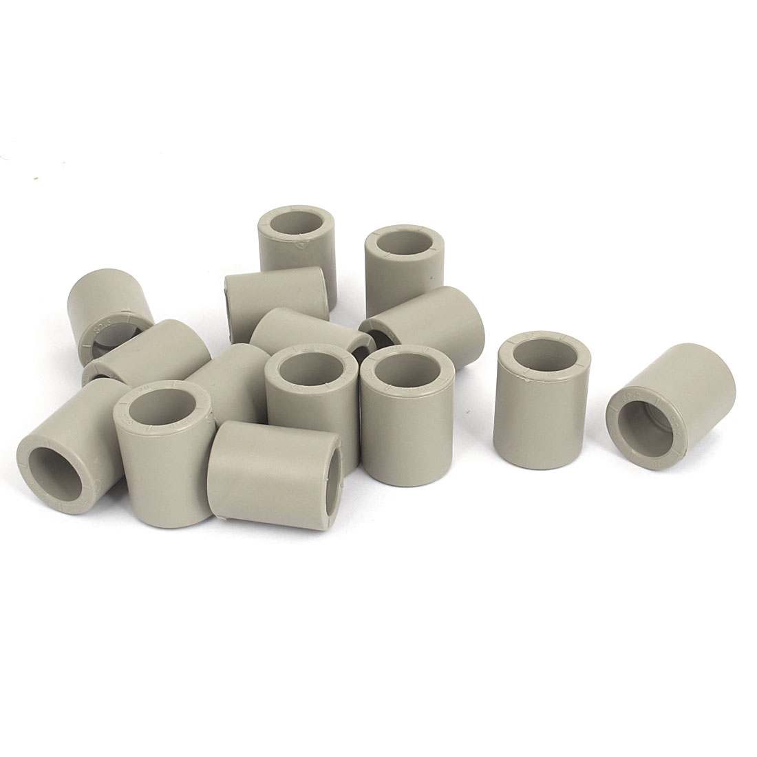 Straight PPR Pipe Connectors Fittings Gray 20mm Inner Diameter 15 Pcs