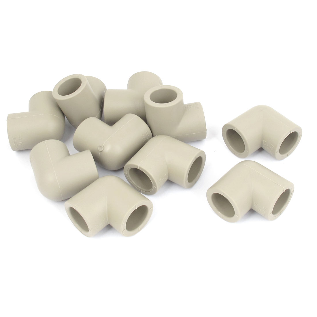 90 Degree Elbow PPR Pipe Connectors Gray 20mm Inner Diameter 10 Pcs