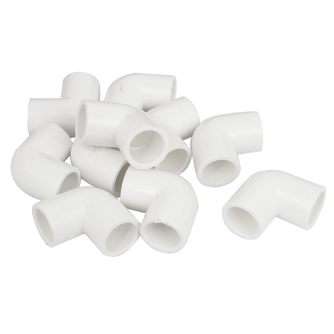 90 Degree Elbow PPR Pipe Connectors White 20mm Inner Diameter 10 Pcs