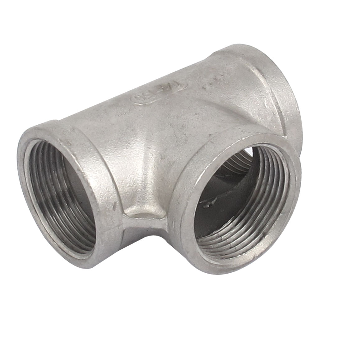 1 1/4 BSP 3 Way 304 Stainless Steel Pipe Fitting Threaded Biodiesel Gray