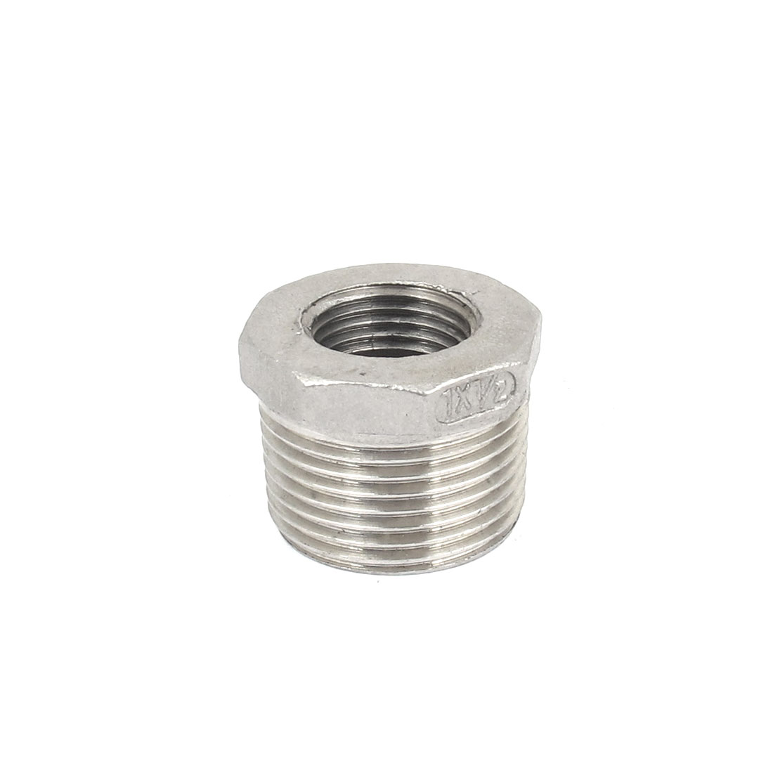 1 BSP Male to 1/2 BSP Female Thread Octagon Head Bushing Fitting for Pipeline