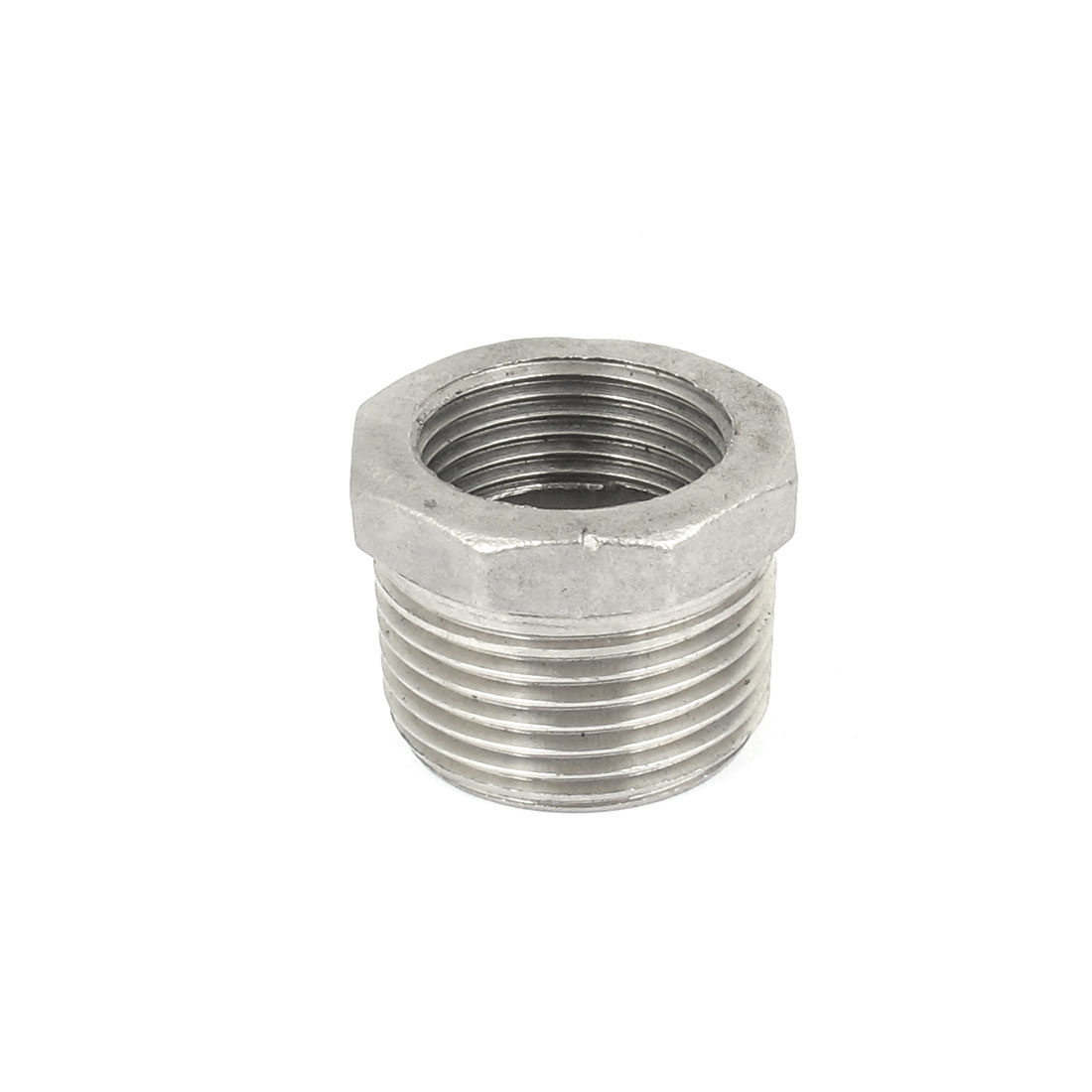 1 BSP Male to 3/4 BSP Female Thread Octagon Head Bushing Fitting for Pipeline