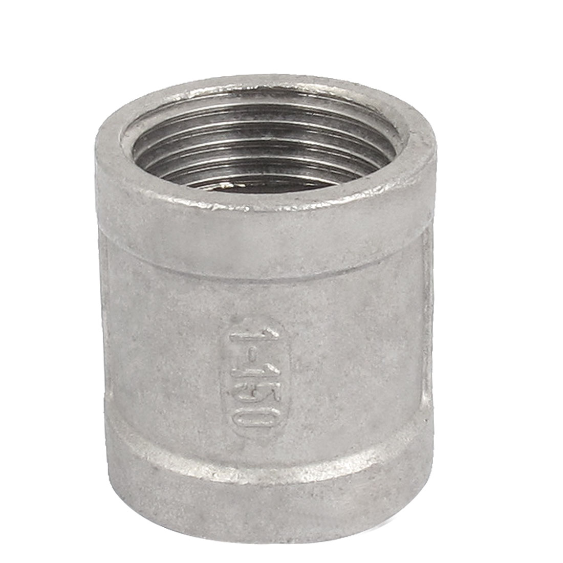 Female Thread Straight Rod Coupling Connector Pipe Fittings 1 BSP Gray