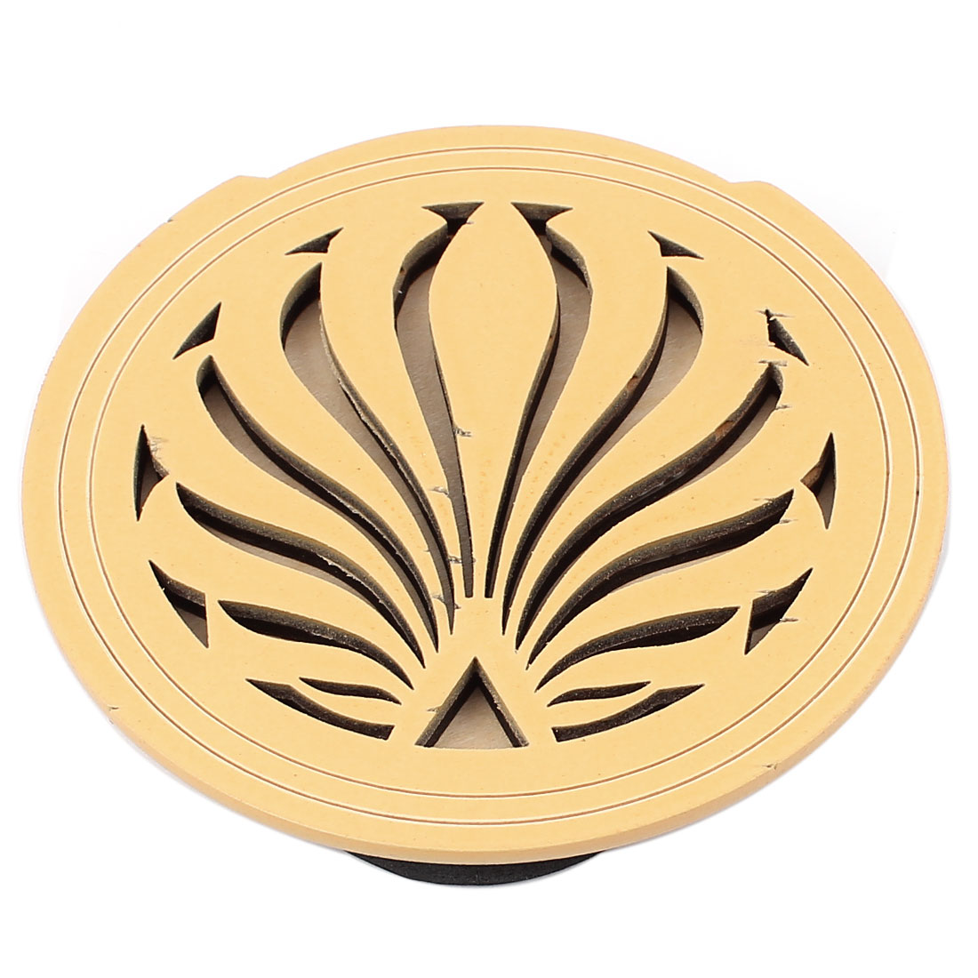 Acoustic Electric Guitar Feedback Buster Flower Pattern Wood Soundhole Hole Sound Cover Block Screeching Halt Protector