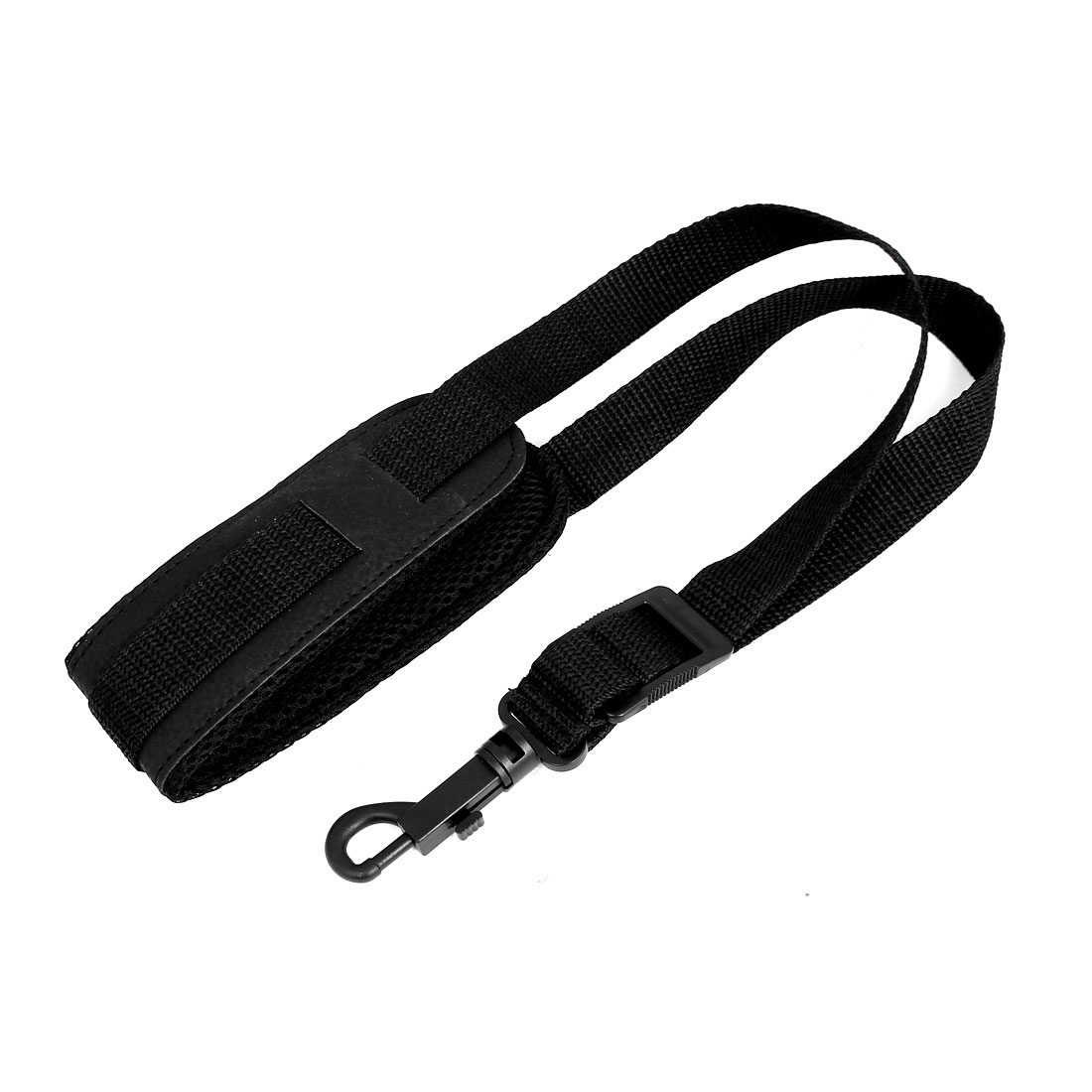 Black Nylon Adjustable Saxophone Sax Neck Strap Neckband w Swivel Snap Hook