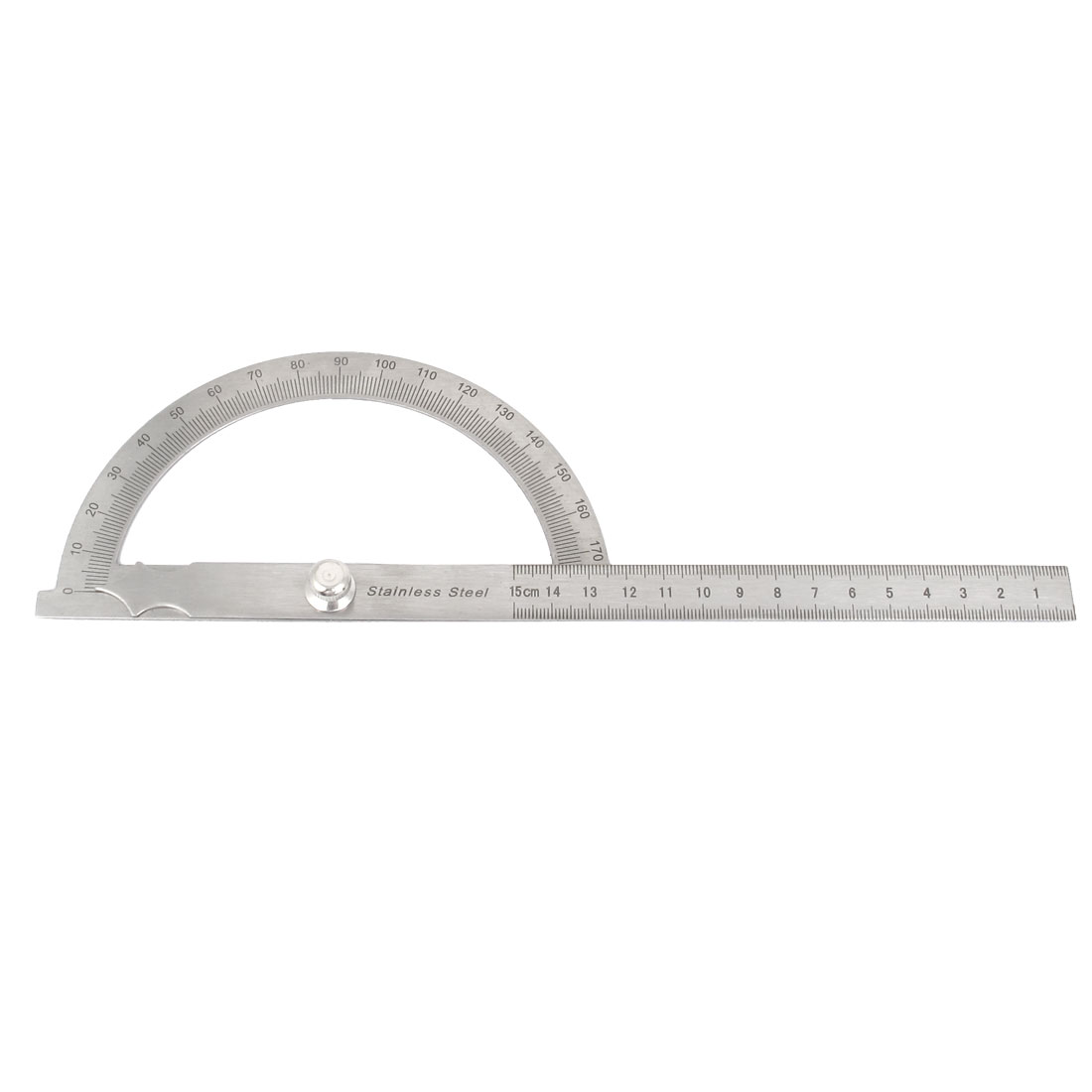 Metal Rotating 0-180 Degree Angle Gauge Protractor 15cm Straight Ruler Measuring Tool