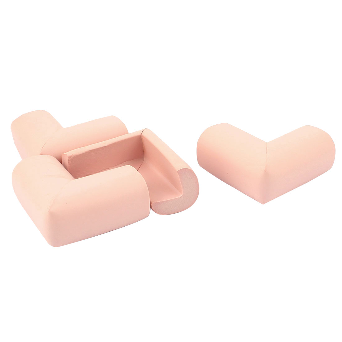 4Pcs Safety Furniture Desk Table Corner Eedge Foam Cushions Protectors Pink