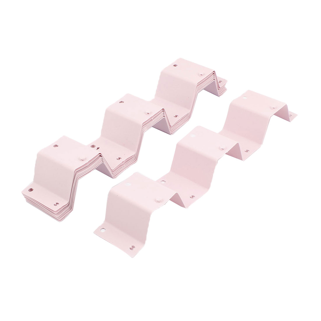 Plastic Adjustable Drawer Compartment Divider Board Organizer Pink 8Pcs