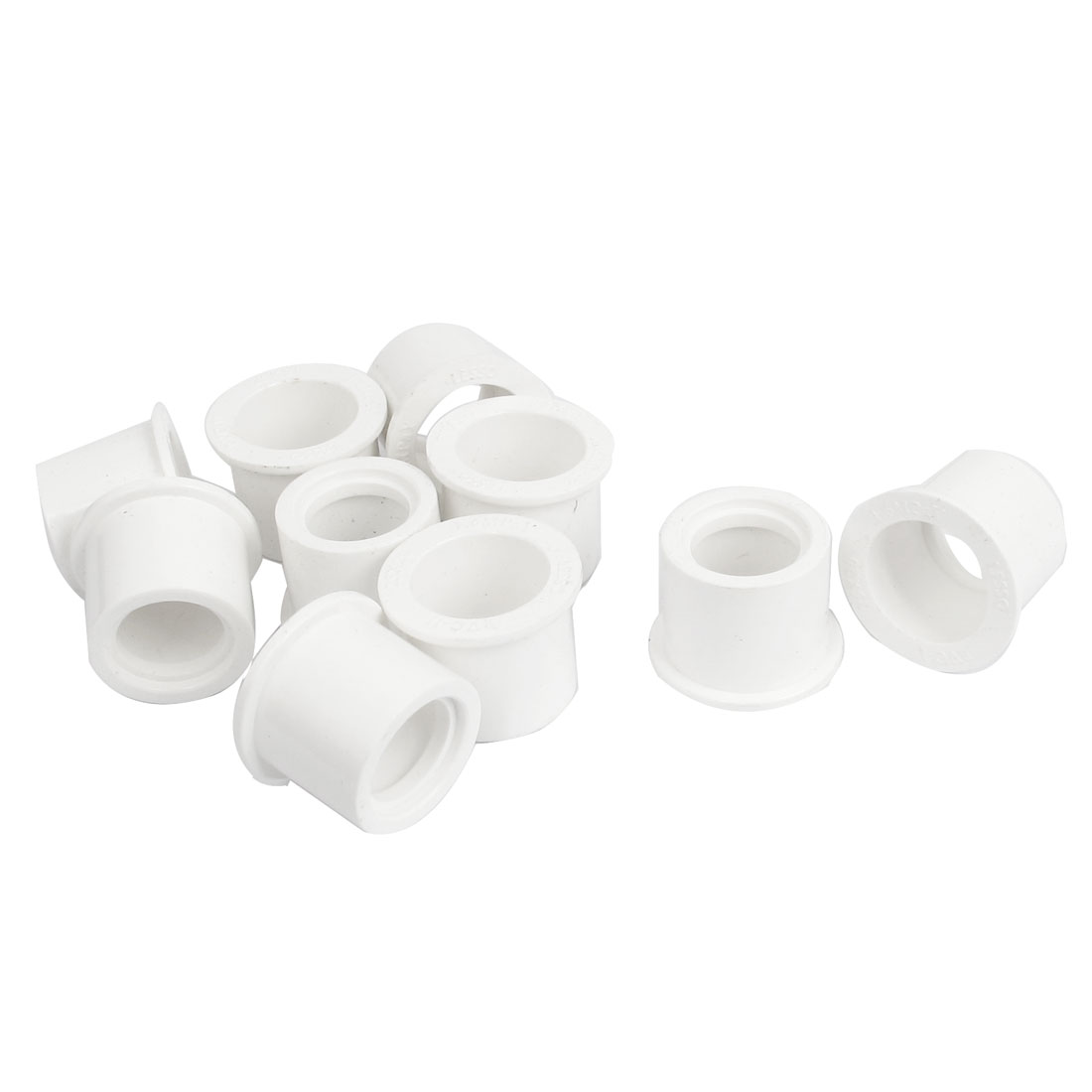 20mm Inner Dia to 25mm OD PVC-U Water Supply Pipe Tube Adapter Connector Fitting White 10pcs