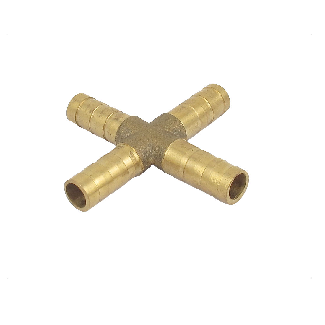 4 Way Cross Shaped 8mm Tube Hose Barb Air Connector Pipe Coupling Coupler Quick Joint Fitting
