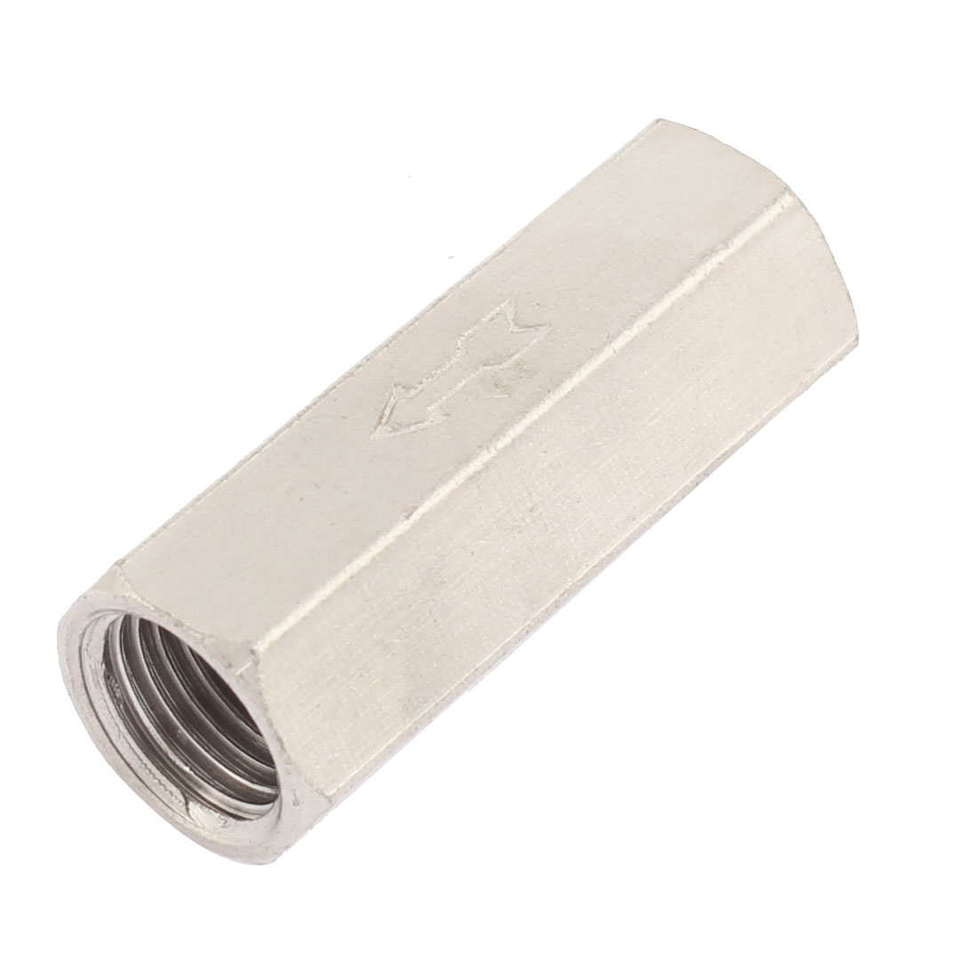 12mm 1/4BSP Female Thread Metal Air Full Port Non-return Straight Single One Way Check Valve