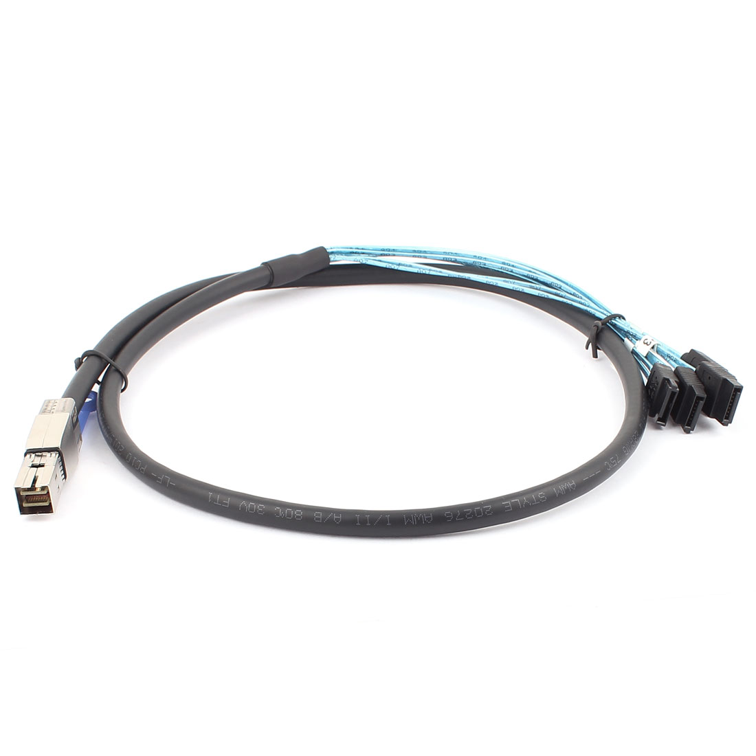 Mini SAS HD 36 Pin SFF-8644 to 4 x SATA Data Cable Cord 1M 3.3ft Long