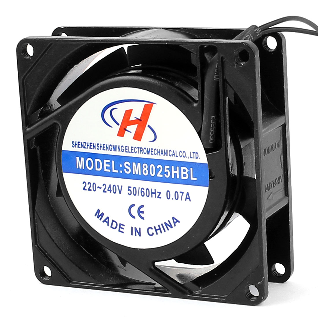AC220V-240V Axial Computer Case CPU Cooling Cooler Fan 80x80x25mm