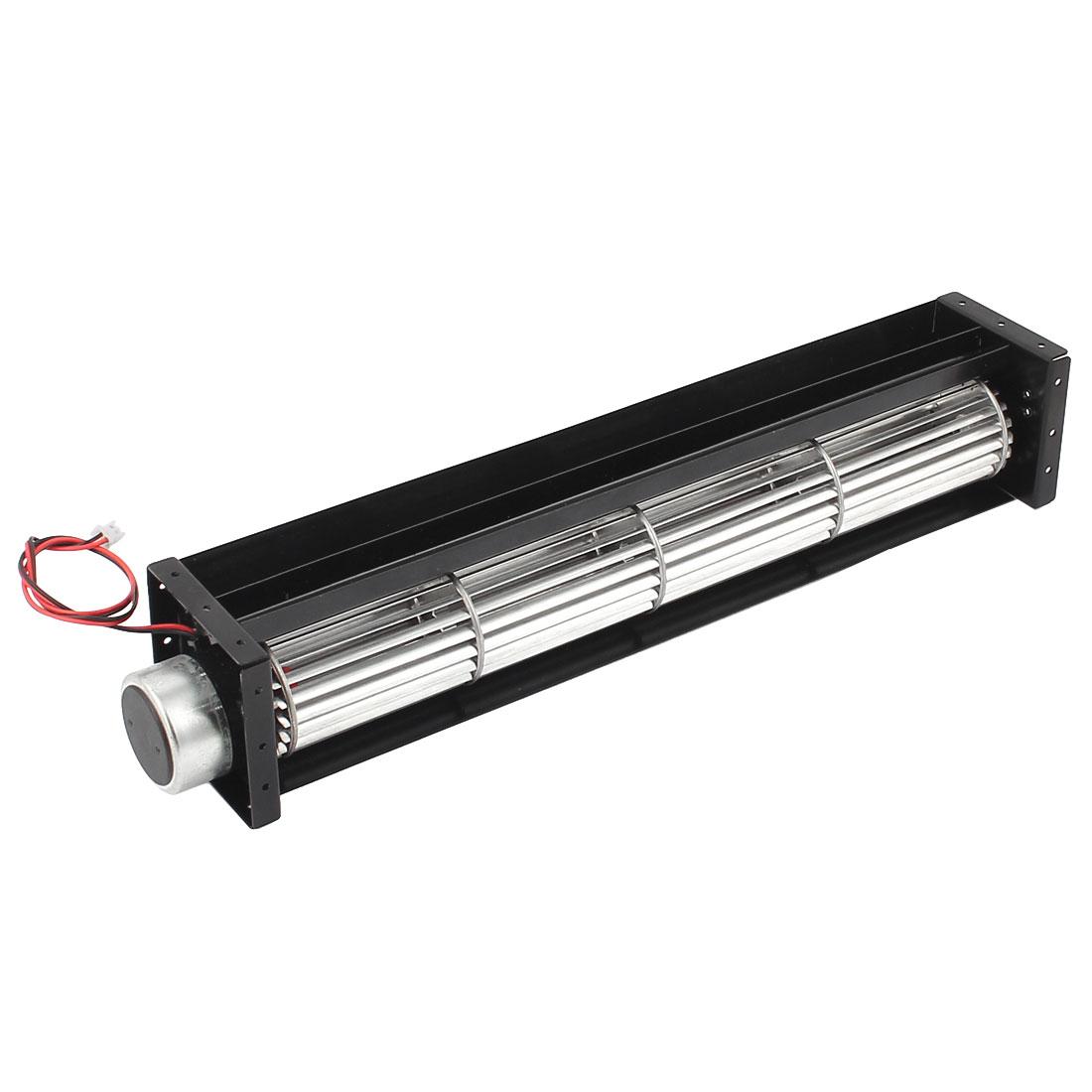 DC 12V 0.30A Cross Flow Cooling Fan Heat Exchanger Amplifier Cool Turbo 40x290mm