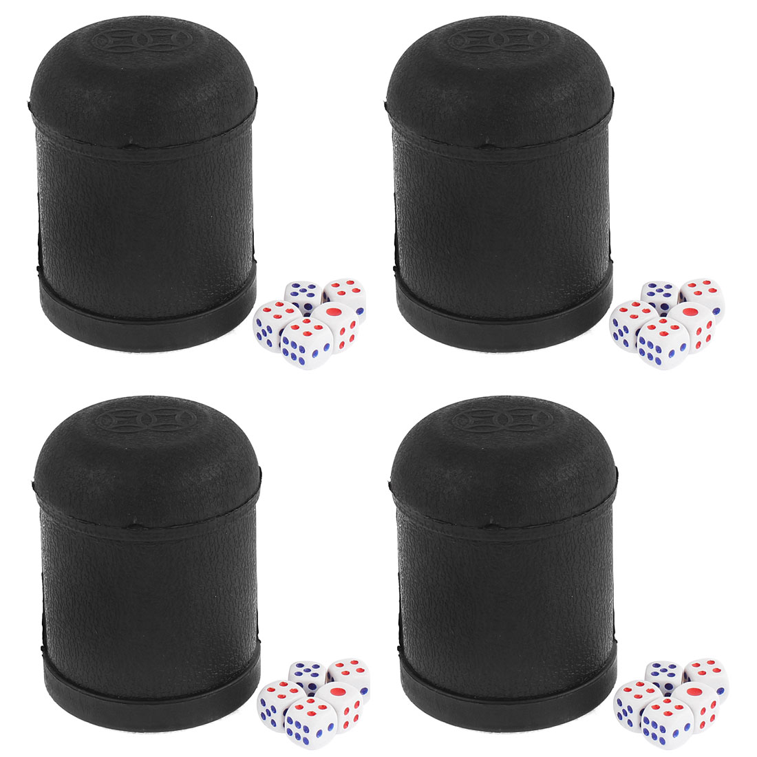 KTV Party Bar Pub Guessing Game Hand Shaker Dice Cup 4pcs w Dices
