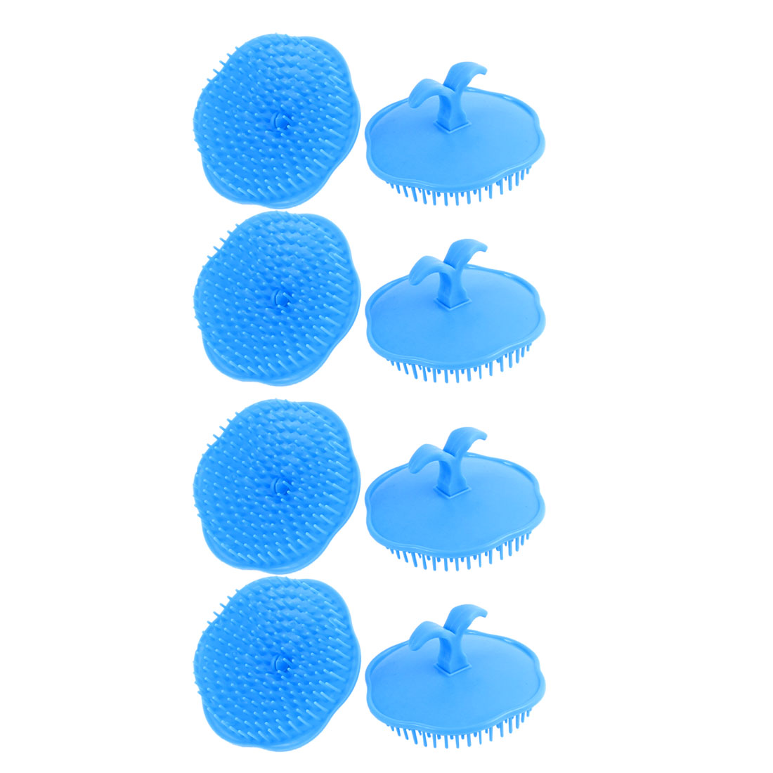 Shampoo Scalp Hair Shower Massage Comb Brush Sky Blue 8Pcs