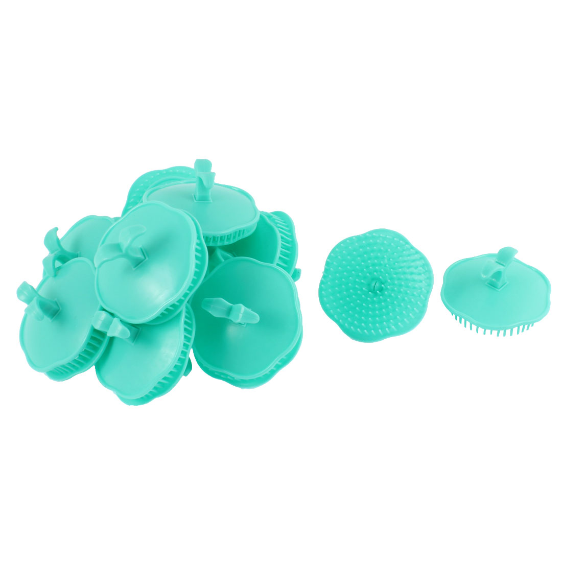 Shampoo Scalp Hair Conditioner Head Massage Comb Brush Cyan Color 20Pcs
