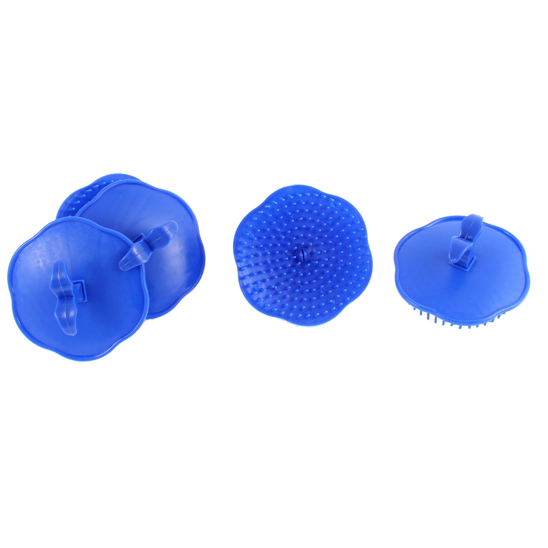 Plastic Head Hair Washing Scalp Massage Shampoo Brush Dark Blue 5Pcs