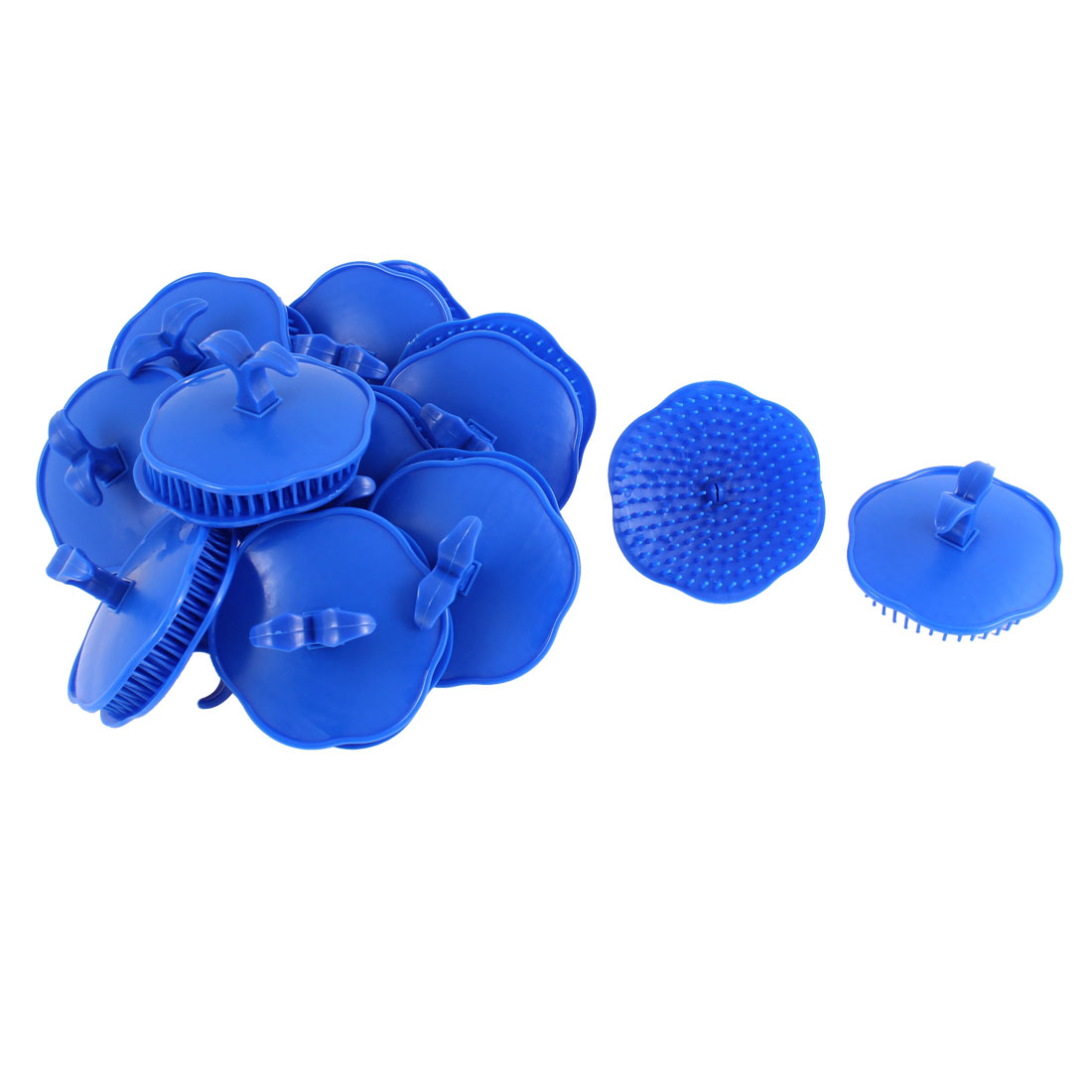 Hair Massage Comb Shampoo Scalp Brush Dark Blue 20Pcs