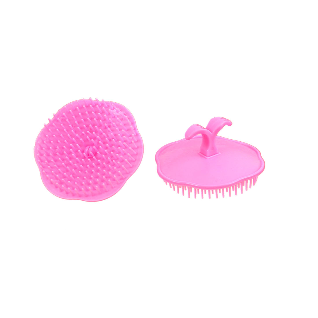 Hair Scalp Body Massage Comb Shampoo Brush Head Conditioner Pink 2Pcs