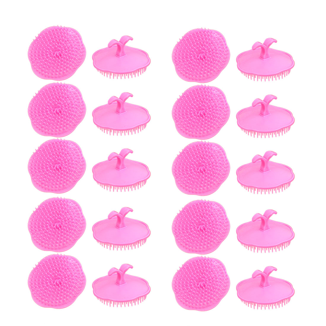 Shampoo Scalp Head Conditioner Massage Comb Hair Brush Pink 20Pcs