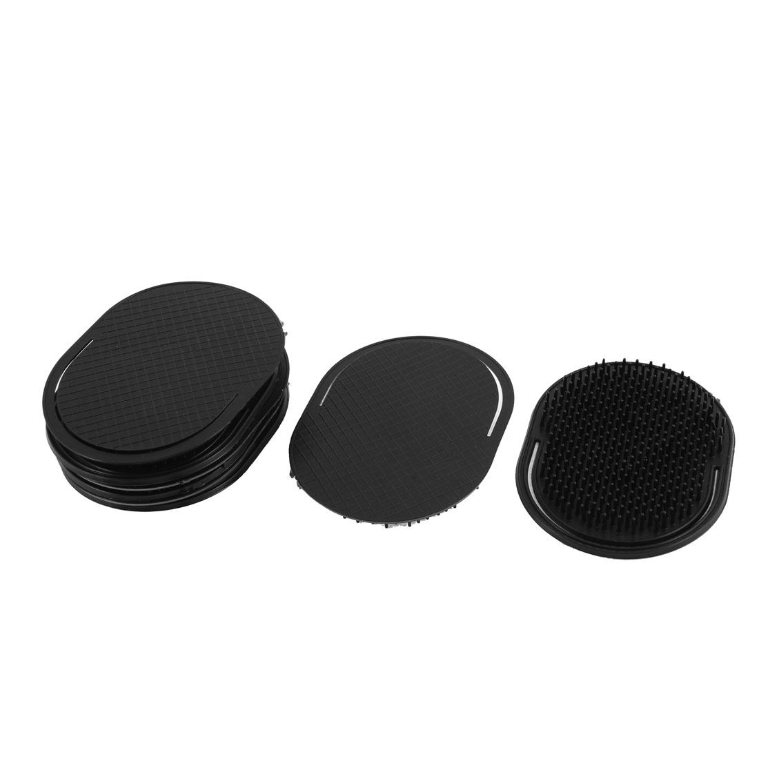 Plastic Oval Shape Hair Comb Scalp Massage Brush Black 8Pcs