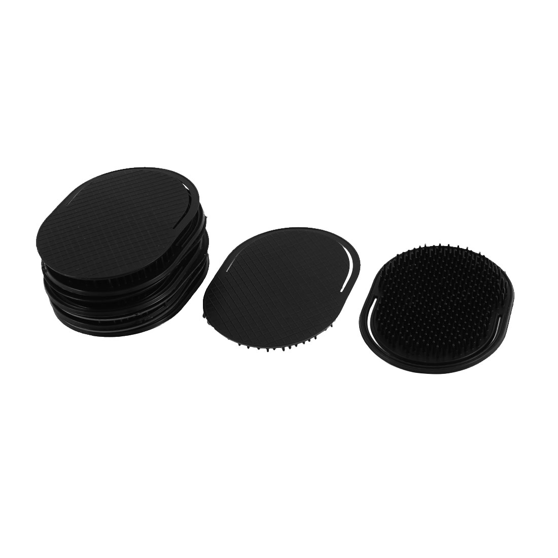 Travel Hair Beard Palm Hold Comb Scalp Massage Brush Black 10Pcs