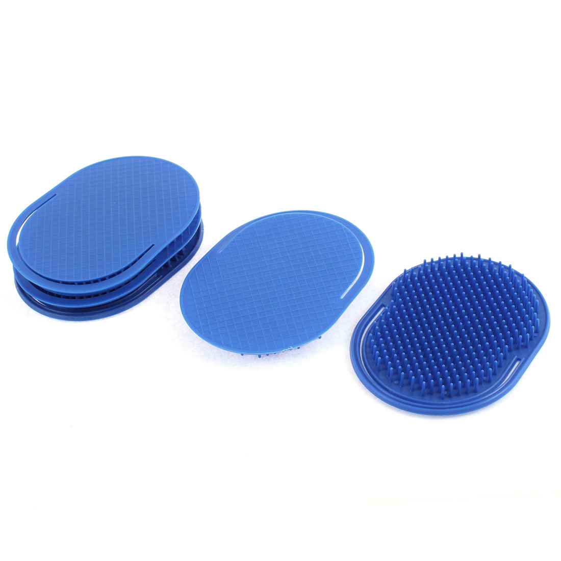 Hair Shampoo Comb Body Palm Scalp Massage Brush Dark Blue 5Pcs