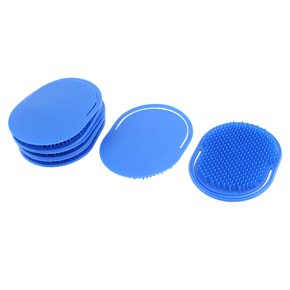 Home Plastic Oval Shaped Hair Comb Scalp Massage Brush Dark Blue 8Pcs