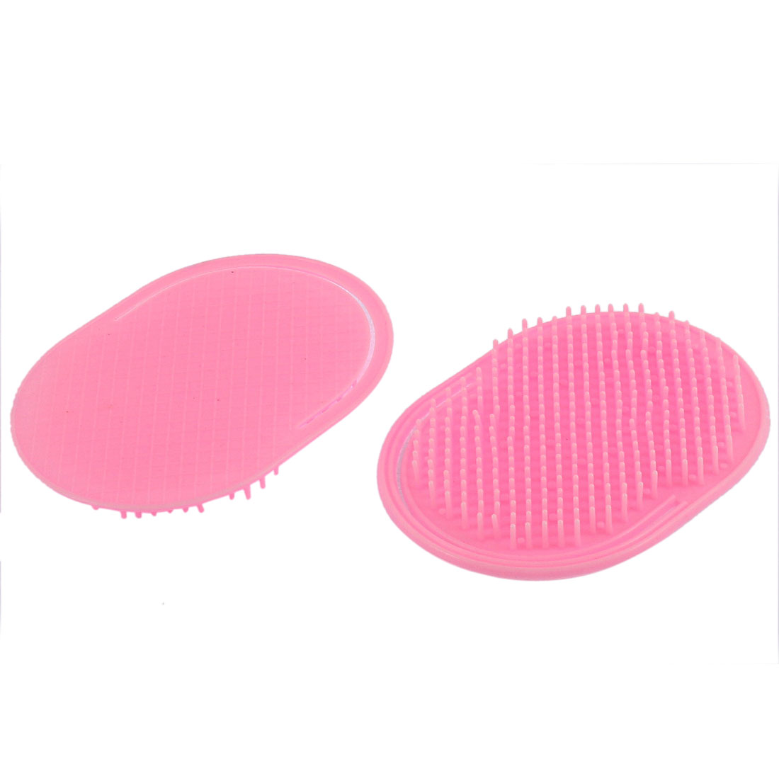 Hair Head Scalp Massage Comb Shampoo Brush Pink 2Pcs