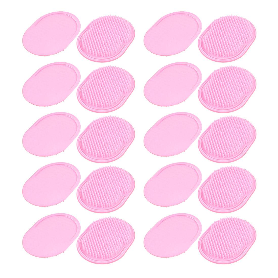 Oval Shaped Palm Hair Comb Scalp Massage Brush Pink 20Pcs