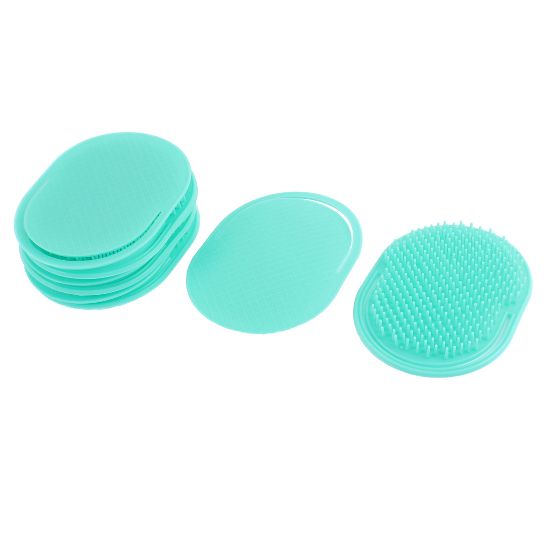 Hair Shampoo Scalp Massage Massager Brush Teal Green 8Pcs