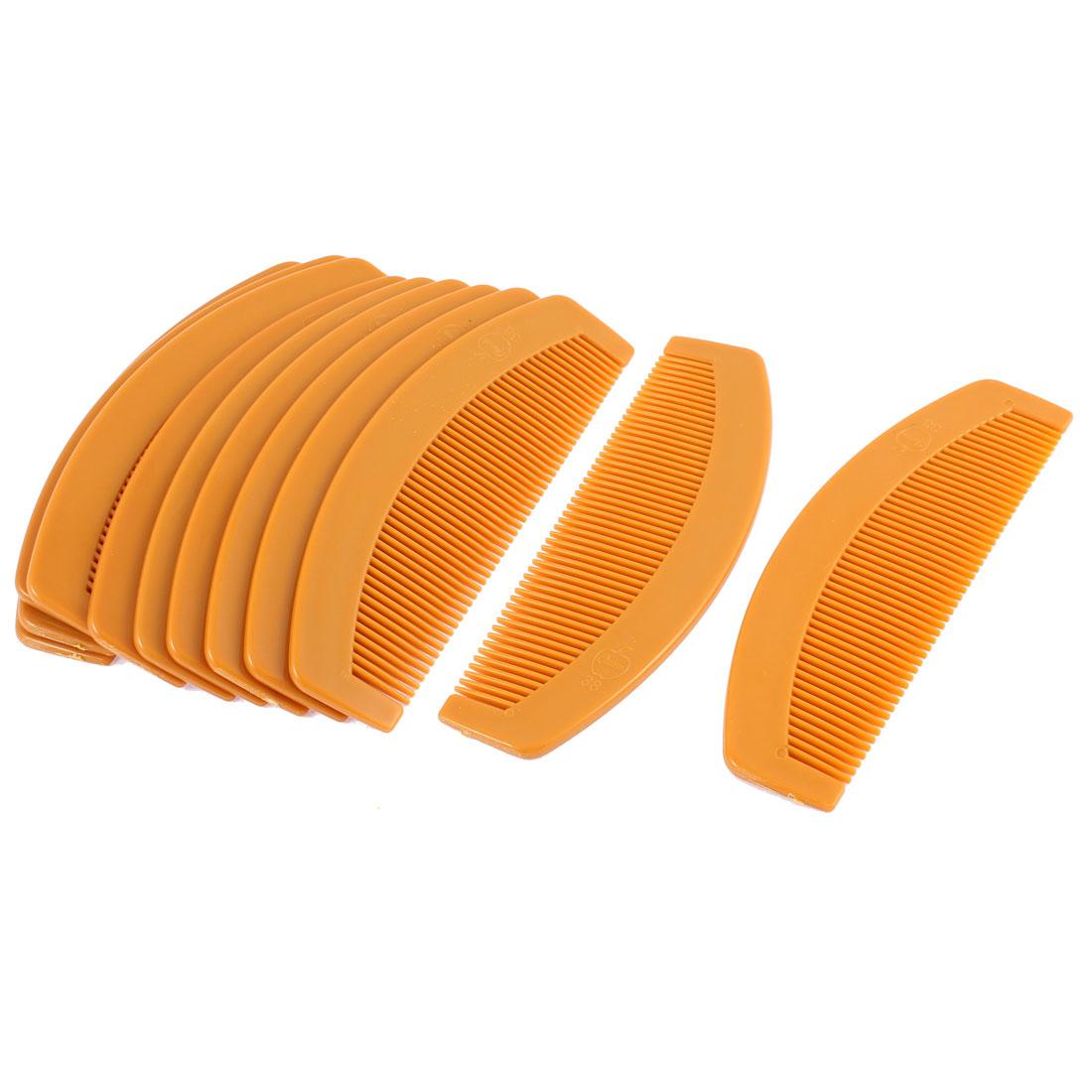 "Women Plastic Hair Care Comb Brown 6"" Length 12Pcs"