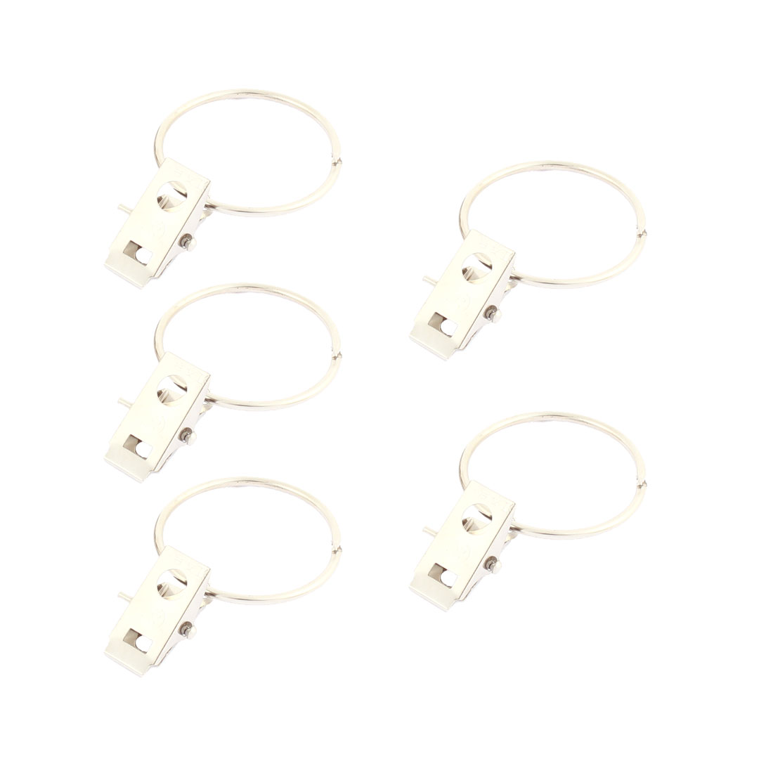 Window Split Ring Sprung Curtain Clips Silver Tone 8Pcs