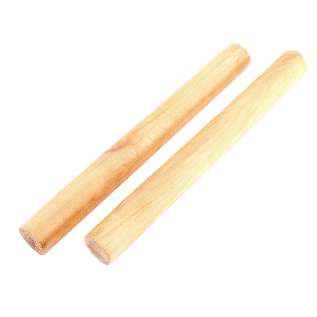 Wooden Stick Flour Bread Kitchen Accessory Rolling Pin Holder 10 Inch 2 Pcs