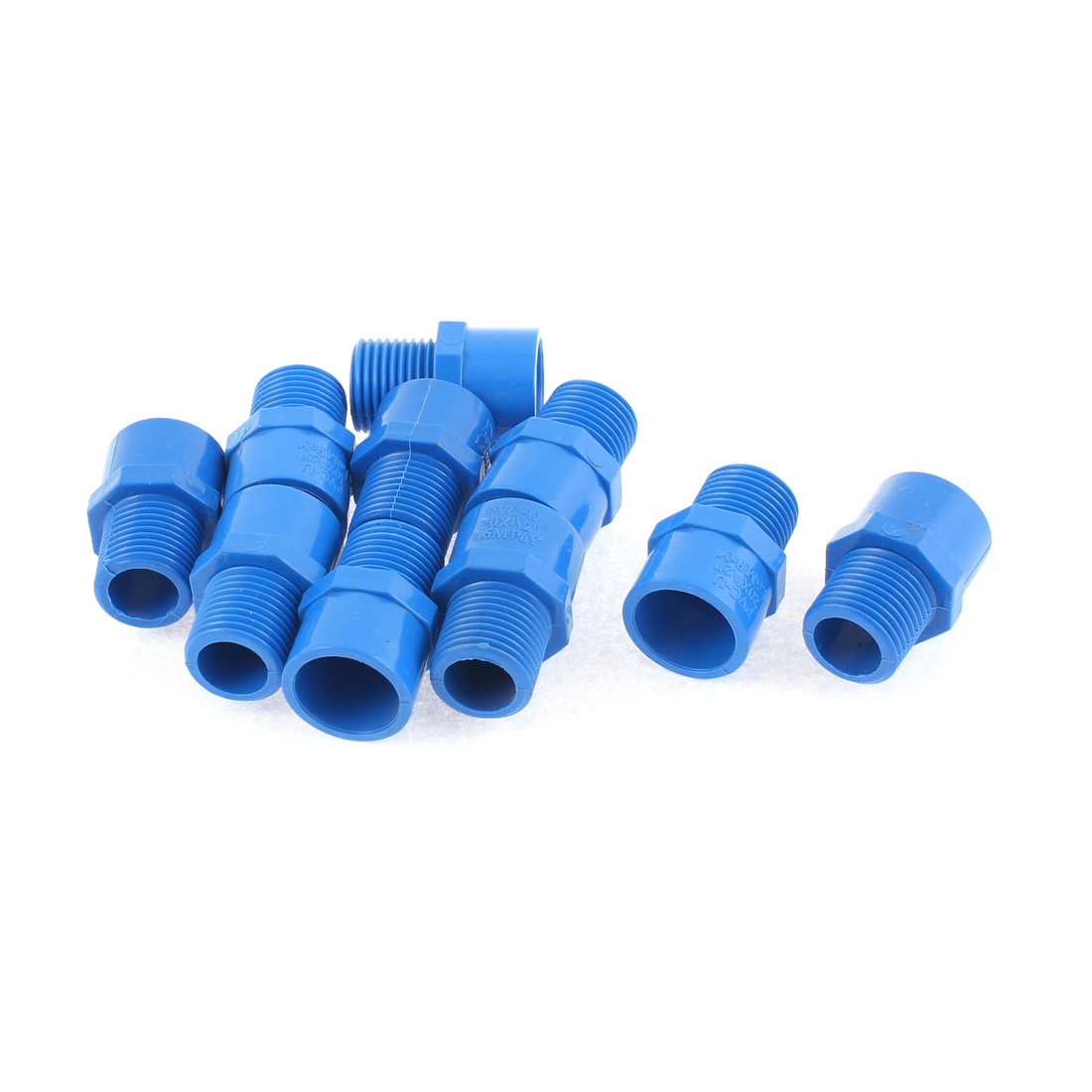 PVC-U 20mm Male Thread Water Pipe Tubing Connector Coupler 10PCS