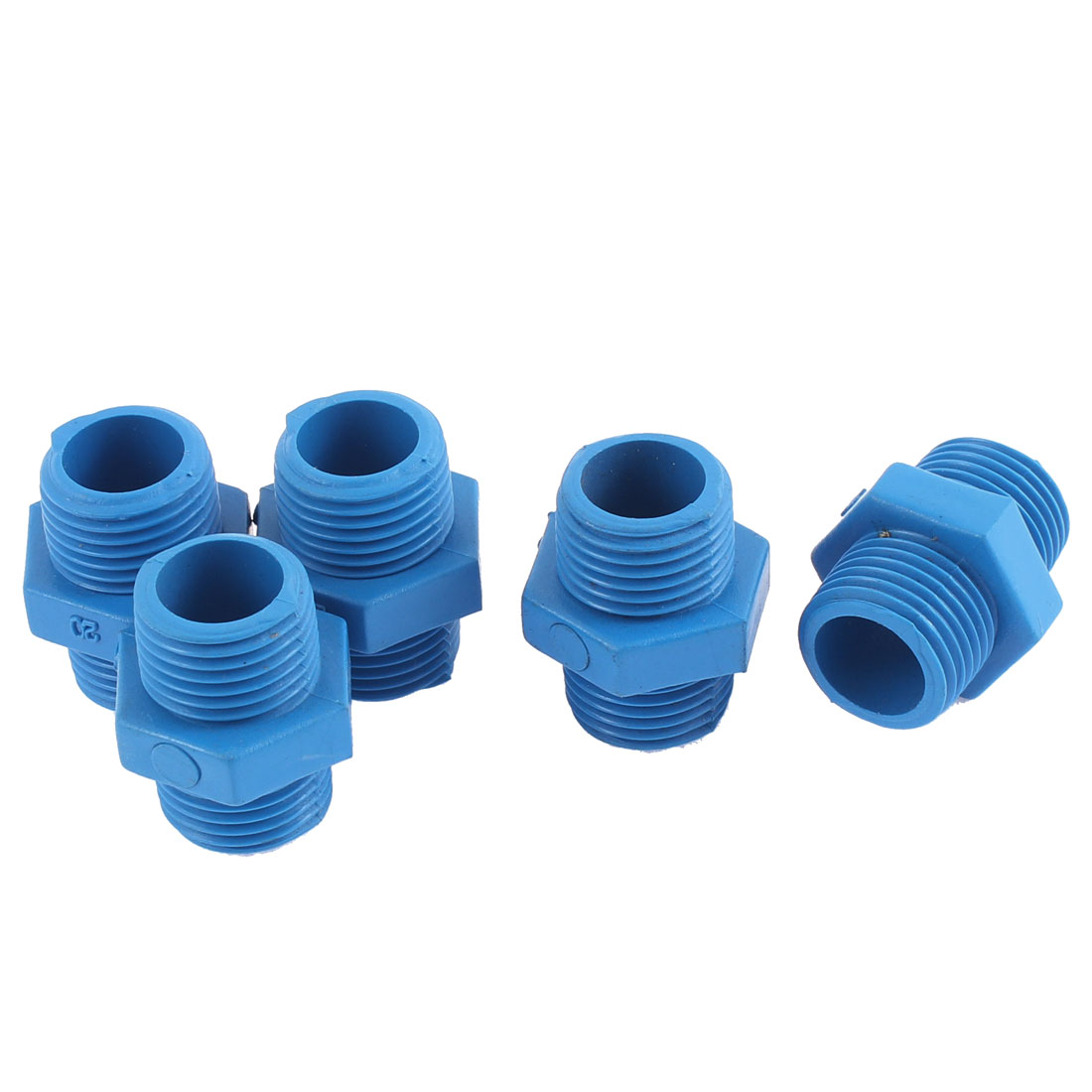 20mm 1/2BSP Dual Male Thread Water Pipe Hose Fittings 5PCS