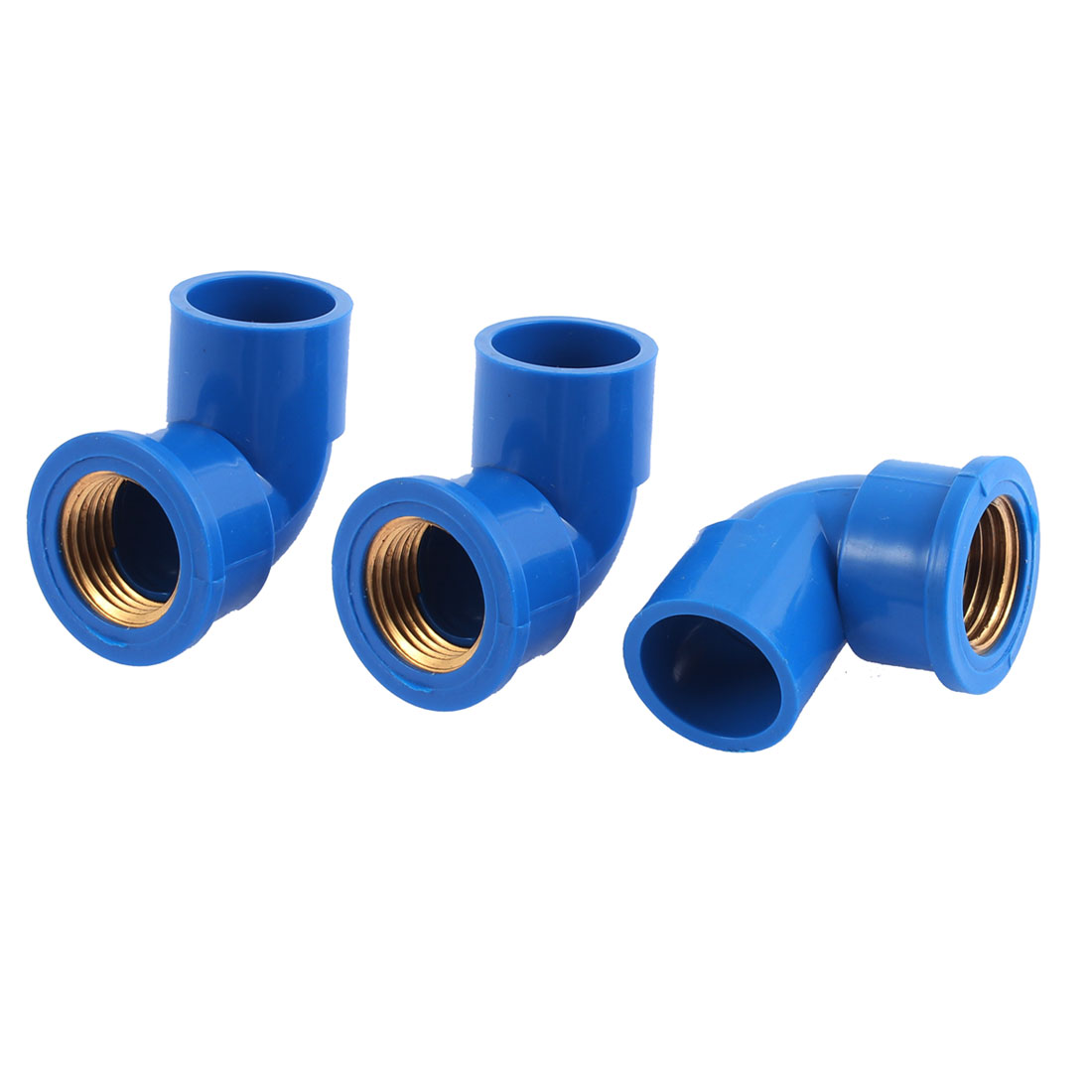 Right Angle Elbow Pipe Connectors 1/2BSP Female Thread 3PCS