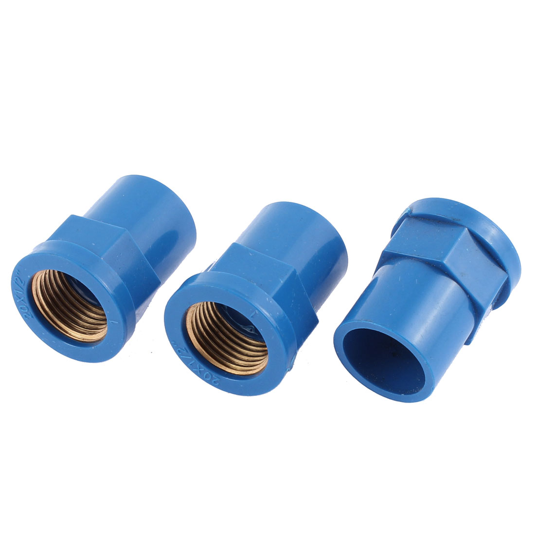 Straight Type 1/2BSP Female Thread Pipe Connector Cooupler 3PCS