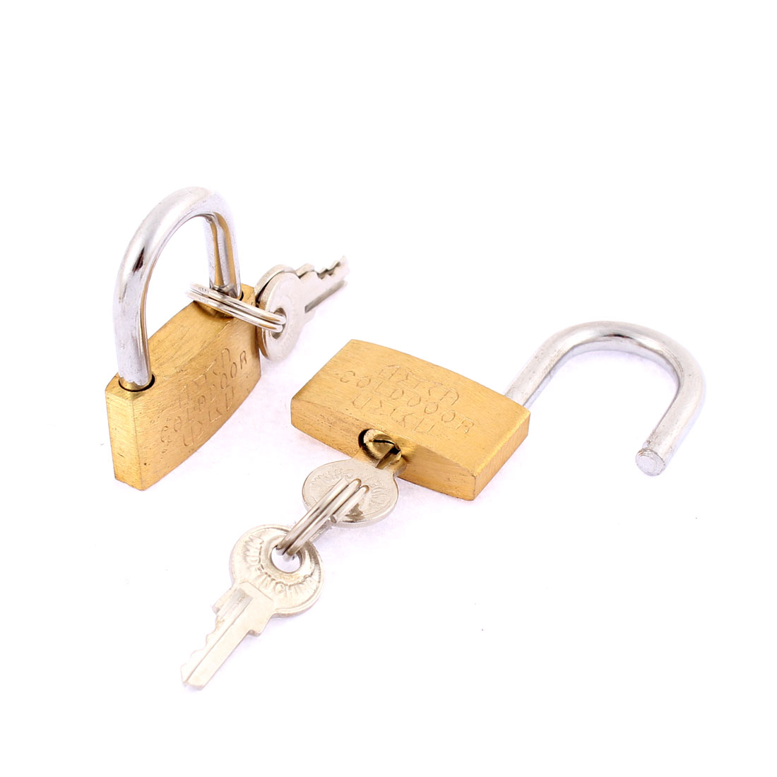 School Office Desk Travel Suitcase Safety Lock Padlock Bronze Tone 2pcs