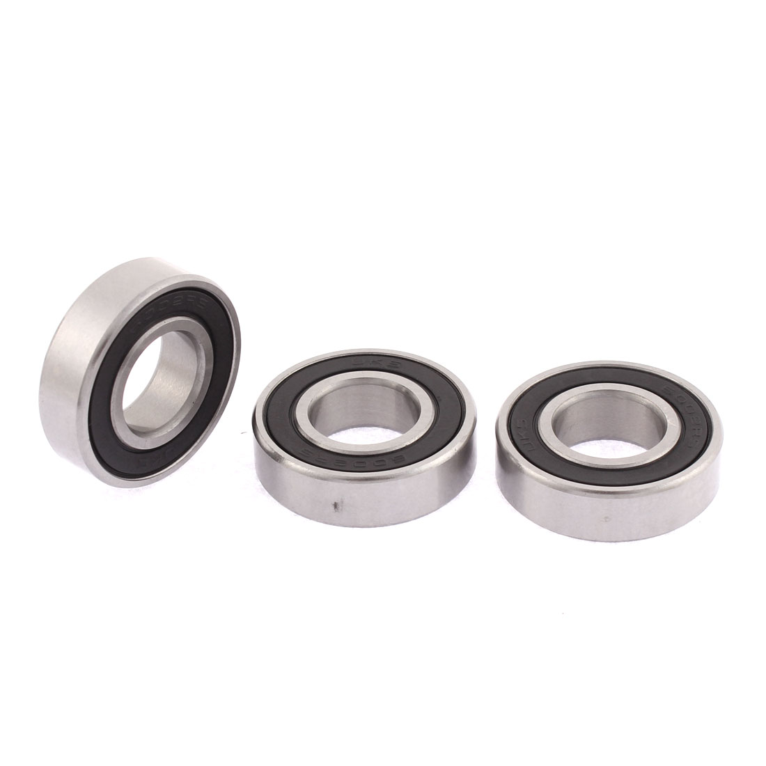 6002RS Double Side Seals Deep Groove Bearing Ball 15mm Inner Dia 3pcs