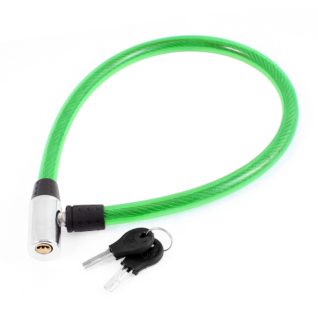 Bike Bicycle Motorcycle Plastic Coated Flexible Security Cable Lock Green