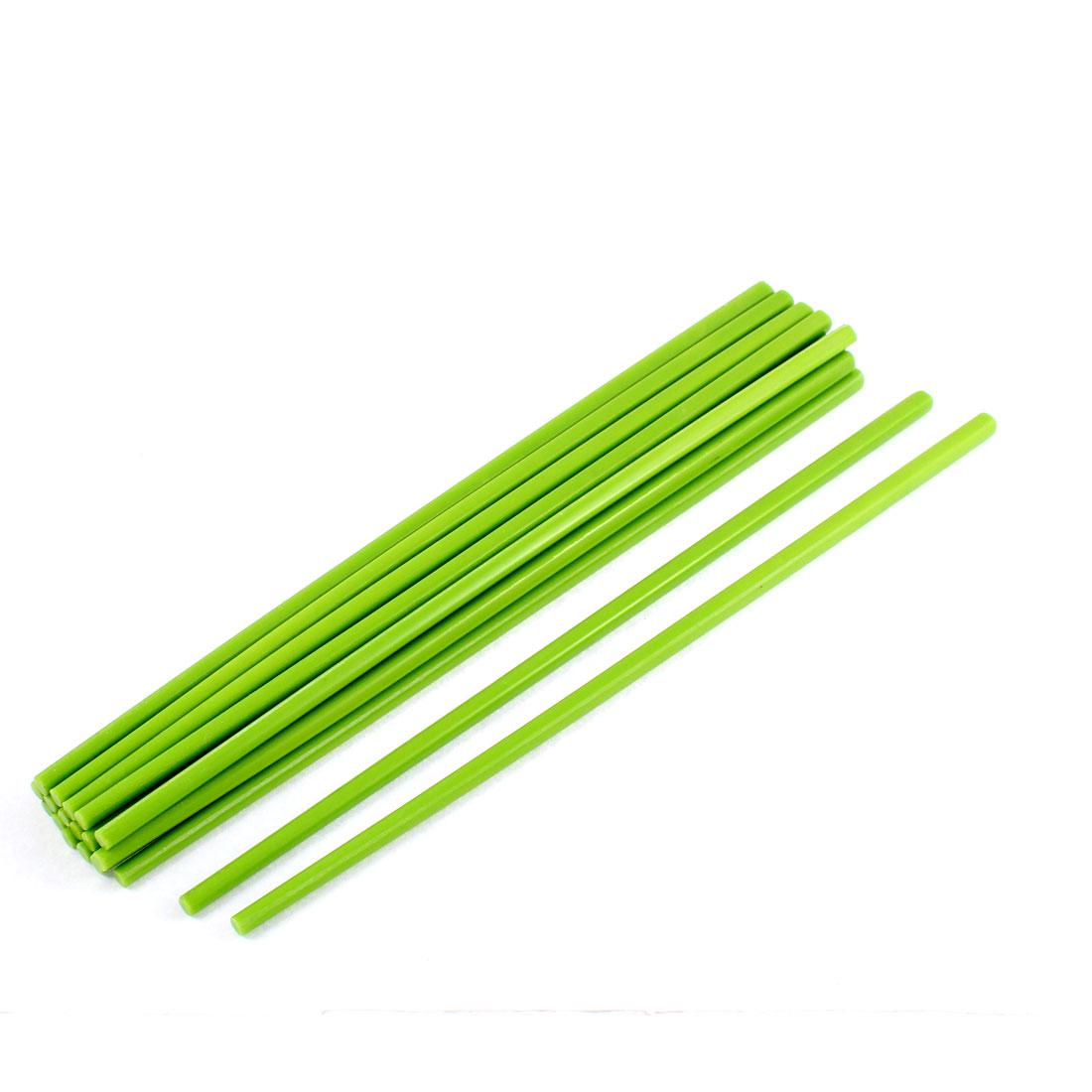 Home Tableware Dinner Plastic Chopsticks Green 10 Pairs