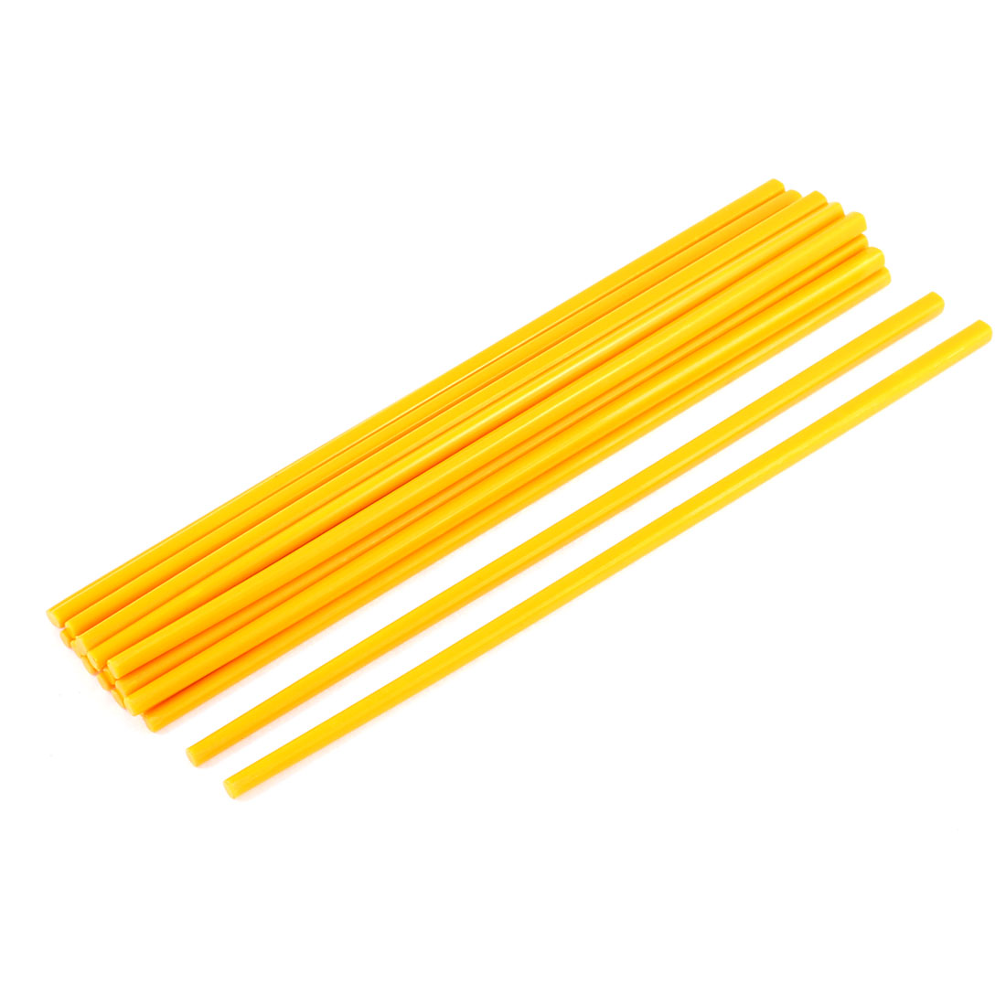 Home Kitchen Dinner Plastic Chopsticks Orange 27cm Length 10Pairs