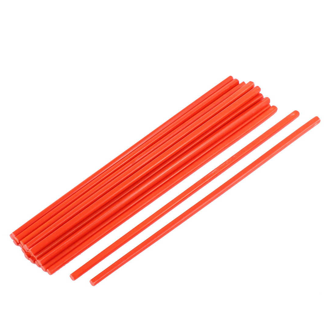 Tableware Dinner Plastic Chopsticks Orange Red 27cm Length 10Pairs