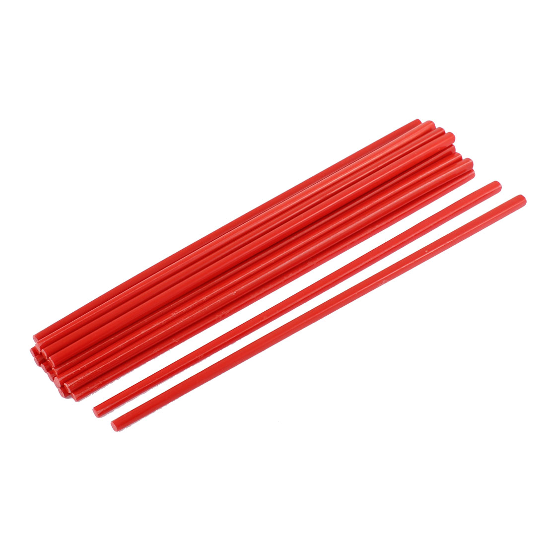 Home Tableware Dinner Plastic Chopsticks Red 27cm Length 10Pairs
